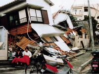 Kobe minutes after the earthquake