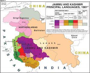 The Diverse Languages of the Kashmir region (credit: The Kashmir Study Group, kashmirstudygroup.com).
